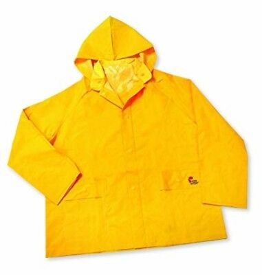Midwest Rain Yellow Jacket adult Medium Contractor Weight removable Hood