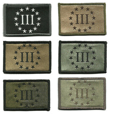 """BuckUp Tactical Morale Patch Hook Three Percenter Patches 3x2"""""""
