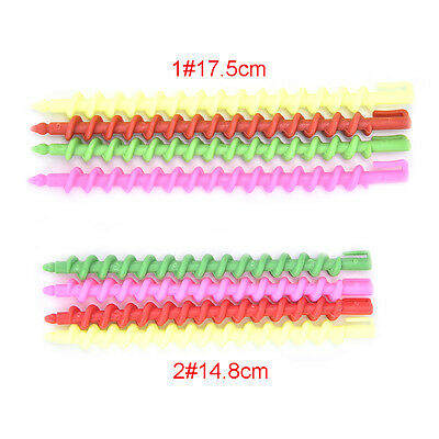 26Pcs Plastic Barber Hairdressing Spiral Hair Perm Rod Salon Tool Durable AT