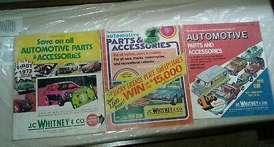 Old vintage JC Whitney catalog lot of 3