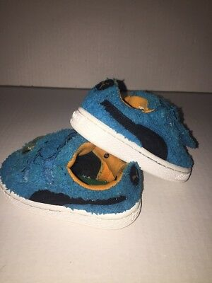dd71de8cca4 Preowned- Puma Classics Sesame Street Cookie Monster Edition Baby s Size 6C