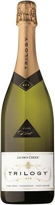 Jacob's Creek` Trilogy` Sparkling NV (6 x 750mL), SE AUS.