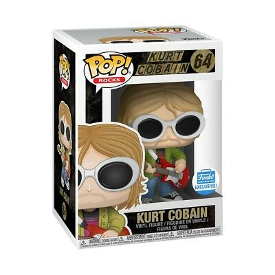 Funko Pop Rocks Kurt Cobain Sunglasses Figure Funko Shop Le Exclusive Nirvana