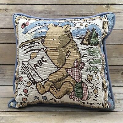 Disney Winnie The Pooh and Piglet Reading Book Tapestry Throw Pillow