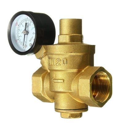 3/4 inch DN20 Adjustable Bspp Brass Water Pressure Reducing Valve With Pres U1L2