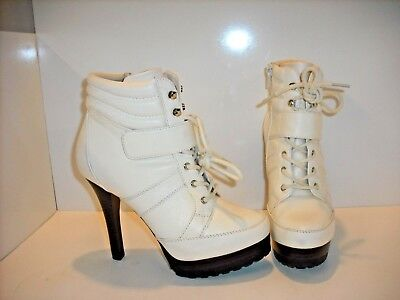 131cf8b7bae3 Jennifer Lopez Platform Womens High Heel Ankle Boots J LO Booties White 7.5  M