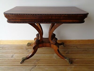 Antique Regency Rosewood Card Table In The Style Of William Trotter