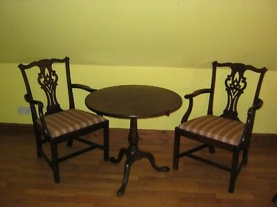 PAIR OF 19th CENTURY MAHOGANY ELBOW CHAIRS