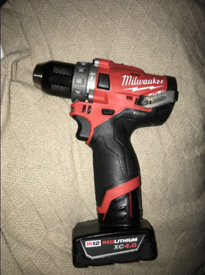Milwaukee M12FPD / 2504 M12 FUEL 12V Brushless Combi Drill Driver +4AH Bat. +Bag