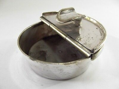 Antique Silver Plated Hand Held Pocket Ashtray Ref 66/1