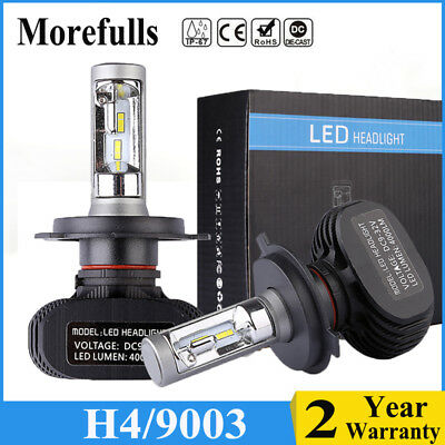 H4 9003 CSP LED Headlight Bulbs Conversion Kit High Low Beam 8000LM 500K Lamp