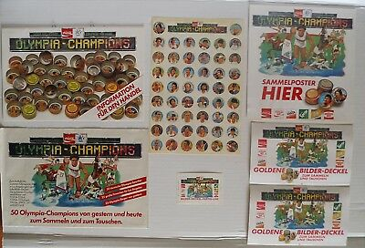Werbe Folder Mappe COCA COLA KNIBBELBILDER Olympia Champions 1984