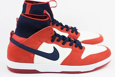 new style 25a7d a4647 NIKE SB ZOOM Dunk High Elite Mens Size 12 Shoes 917567 641 Red Blue White  USA