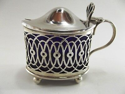 Antique Silver Mustard Pot Hallmarked Birmingham 1898 Ref 107/2