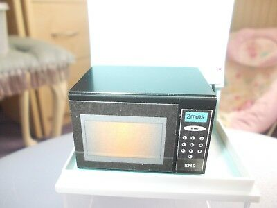 Black Non Working Microwave For A Dolls House