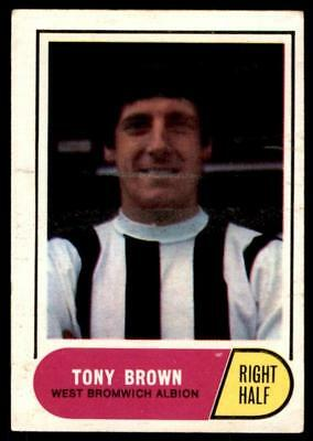 A&BC Football Green Back 1969 (B2) Tony Brown - West Bromwich Albion No. 123
