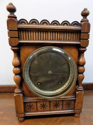 walnut cased winterhalder & hoffmeir striking mantel clock c1900s