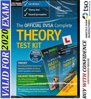 Official DVSA Complete Theory Test Kit for PC and Mac. Valid 2019 Tests*kit