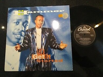 "Mc Hammer ""let's Get It Started"" 1991 Uk Reissue Lp"