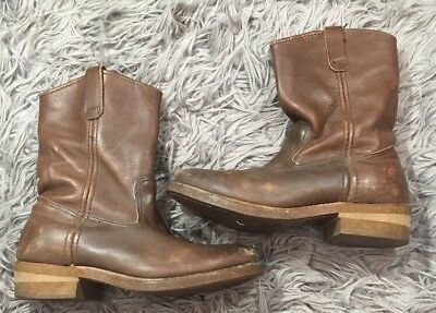 0b43d0a8a89 VTG MENS RED Wing Pecos Work Leather Brown Boots Size 8.5 D - $69.99 ...
