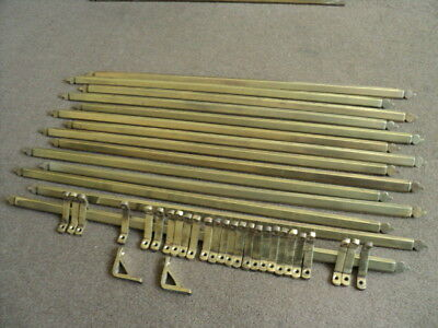 Beautiful Set Of 14 Victorian Brass  Stair Rods And 28 Brackets