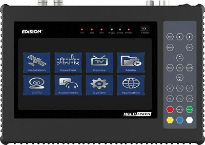 Edision Multi-Finder DVB-S/C/T2 H.265 / HEVC Pro Meter & CCTV Tester All In One