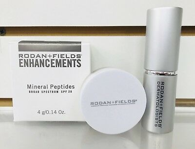 Rodan and Fields Enhancements Mineral Peptides Powder BRONZE SPF 20 WITH BRUSH