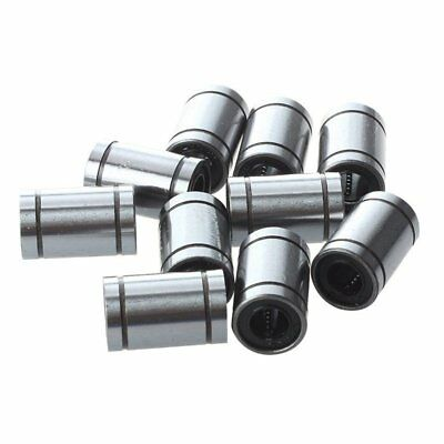 3X(Ball Bushing Linear Motion 8mm x 15mm x 24mm Double Sealed 10 Pcs J8I1)