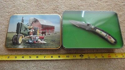 Smith & Wesson, Zolan limited edition John Deere knife with tin. Nice!