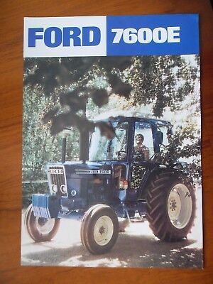 Ford 7600E Tractor Sales Leaflet