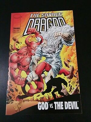 Savage Dragon 31 NM God vs the Devil Eric Larsen uncensored 1st print recalled