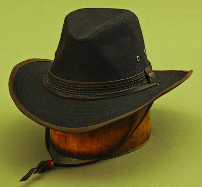 ea112c3b Stetson * Mens Brown Outback Hat * Xl * New Shapeable Fedora Sun Fishing  Hunting