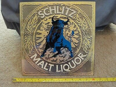 Vintage Schlitz Malt Liquor. Bar, beer advertising mirror sign. Nice!