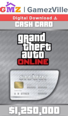 Grand Theft Auto Online:Great White Shark Cash Card 1.250.000$ PC Activation Key