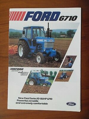 Ford 6710 Tractor Sales Leaflet With Single Sheet Supplement