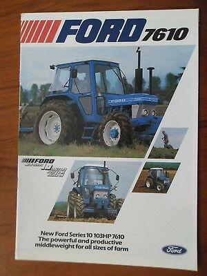 Ford 7610 Tractor Sales Leaflet With Single Sheet Supplement