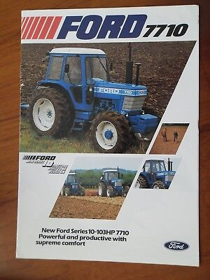 Ford 7710 Tractor Sales Leaflet With Single Sheet Supplement