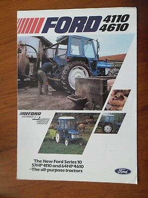 Ford 4110-4610 Tractor Sales Leaflet With Single Sheet Supplement