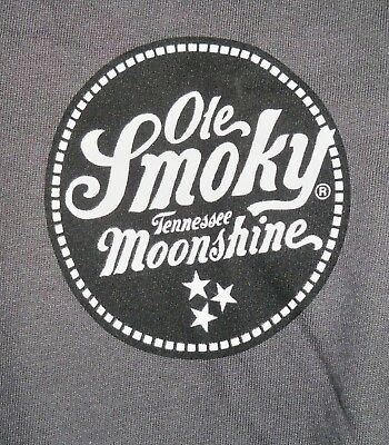 Ole Smoky Tennessee Moonshine T-Shirt Gray Size Large C'mon Live A Little