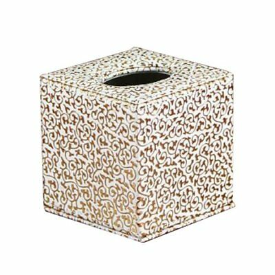 3X(Gold PU Pattern Roll Paper Box Napkin Box for Home Office P3Y9)