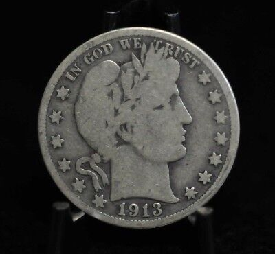 1913-P Choice VG Barber Half Dollar [07DUD]
