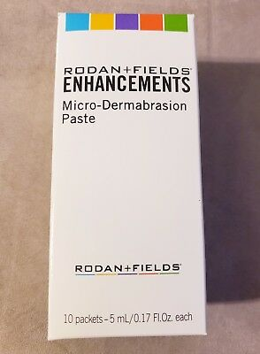 Rodan and Fields Enhancements Micro-dermabrasion Paste 10 Packets NEW IN BOX!