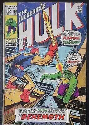 Incredible Hulk # 136, Low Grade Clearance Copy