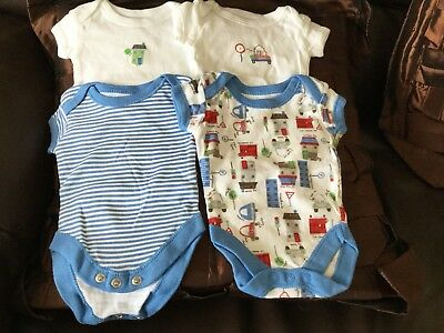Pack Of 4  New Tiny Baby Summer Sleep Suits George Brand