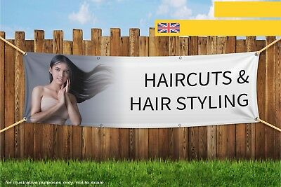 Haircuts and Hair Styling Heavy Duty PVC Banner Sign 3375