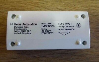 Home Automation TLD 300W 40-300W White Slider Dimmer