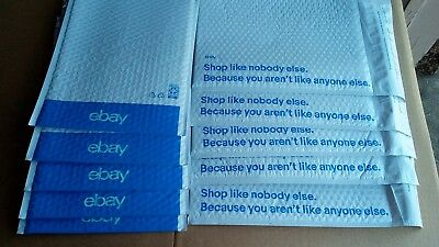 "10 ebay Branded AirJacket Padded Bubble Mailer Blue Print Envelope 6.5"" x 8.75"""