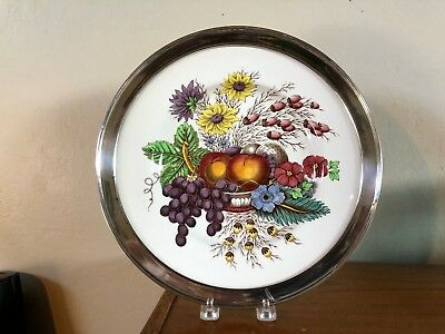 "Beautiful Spode ""Reynolds"" Plate With San Francisco Shreve Sterling Rim NICE!!!"
