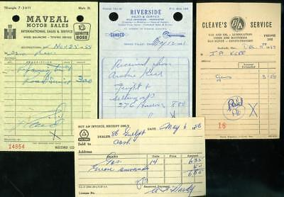 4 RECEIPTS CANADIAN GASOLINE 50's-61