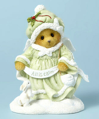 "Cherished Teddies ""all Is Calm"" Snow Angel Bear Luciana 4040475 *  Free Shipping"